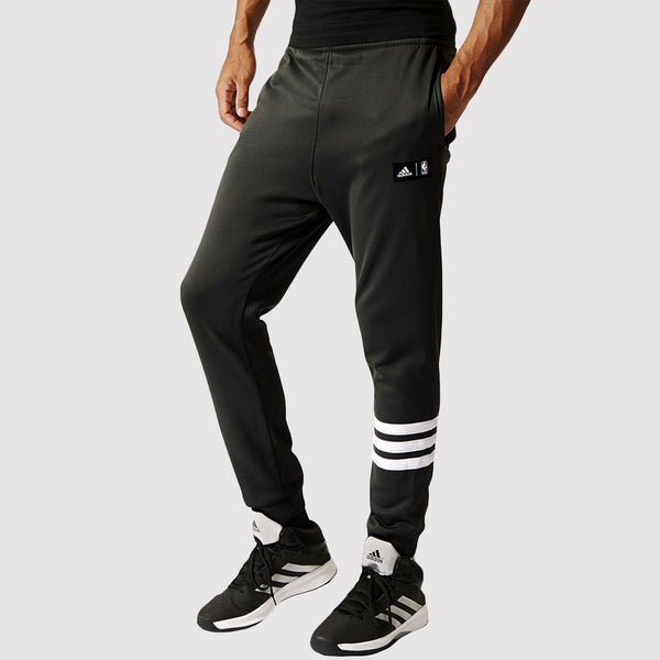 brooklyn nets summer run pants - adidas - grey - front