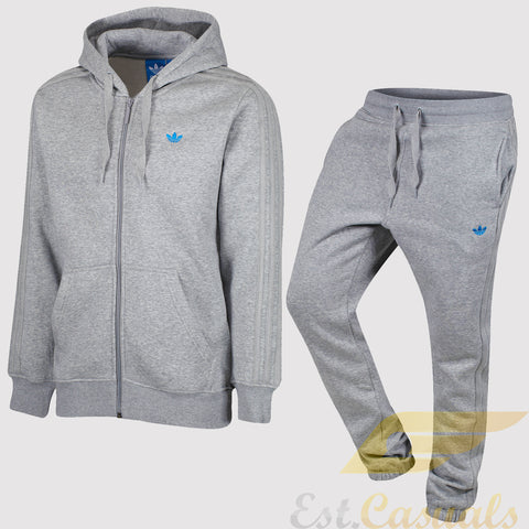 adidas Originals Classic Trefoil Fleece Tracksuit - Grey