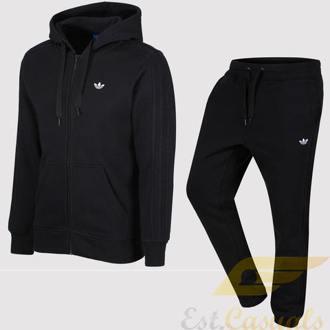 adidas Originals Classic Trefoil Fleece Tracksuit - Black