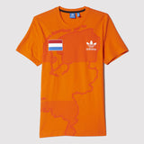 adidas Originals Netherlands T Shirt - Orange - Front