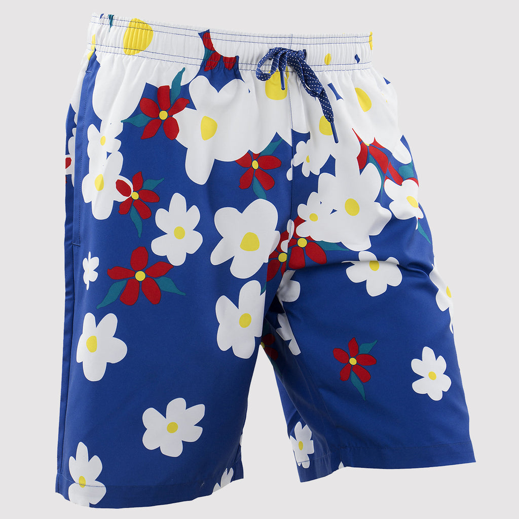 adidas Originals Pharrell Williams Daisy Swim Shorts - Blue - front