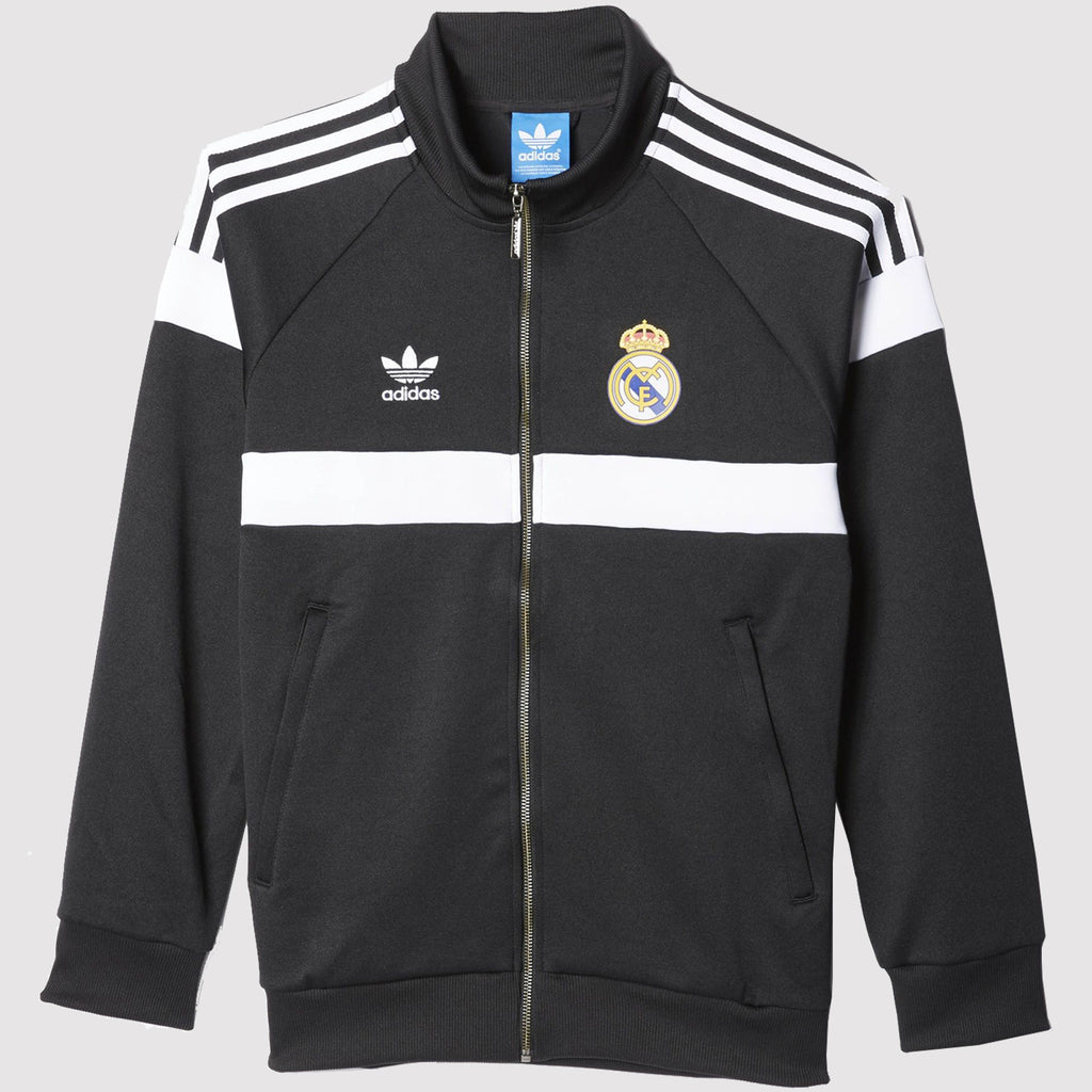 adidas Originals Real Madrid Track Jacket - Black - Front