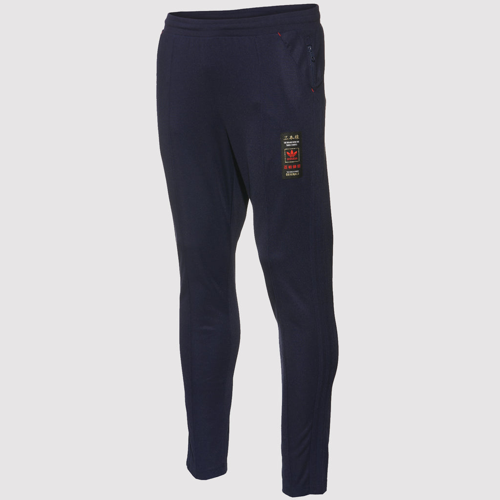 adidas Originals Budo Tapered Sweatpants - Navy - front - AZ6364