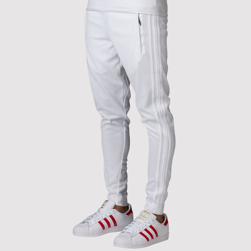 adidas 3 Stripes Tiro Track Pants - White - B43980 - front