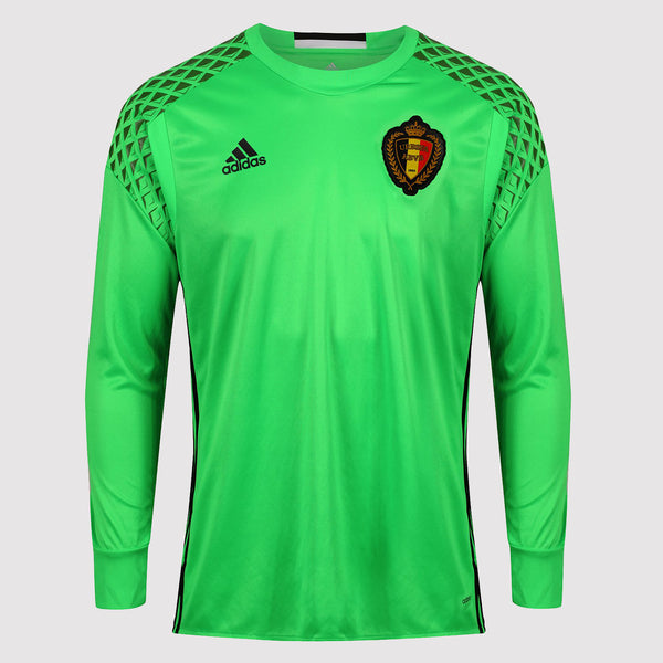 adidas Belgium National Team Home Goalkeeper Jersey - Green - B93151 front