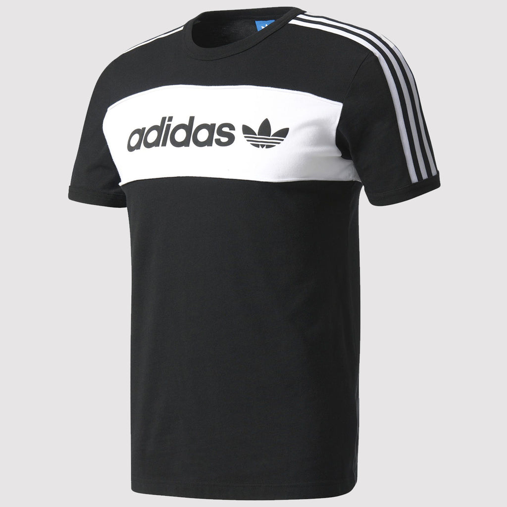 adidas Originals Block T Shirt - Black - BQ9366
