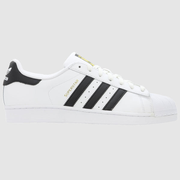 adidas Originals Superstar Trainers - White Black - Side
