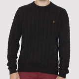 Farah Vintage Kirtley Jumper - Black - Front