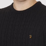 Farah Vintage Kirtley Jumper - Black - Detail