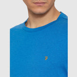 Farah Vintage The Denny Marl T Shirt - Blue - Detail