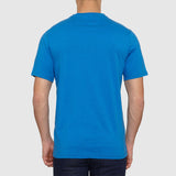 Farah Vintage The Denny Marl T Shirt - Blue - Back