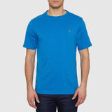 Farah Vintage The Denny Marl T Shirt - Blue - Front