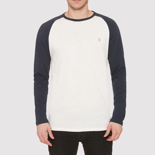 Farah Zemlack Long Sleeve T Shirt - Navy - Front