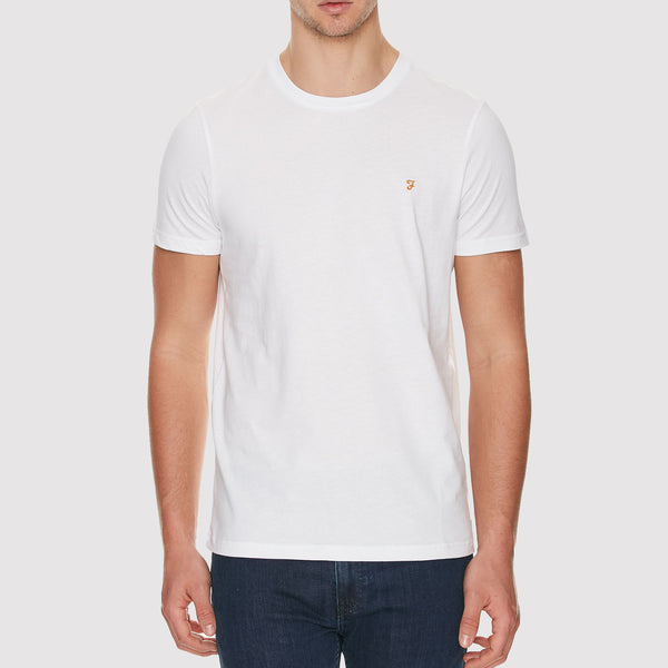 Farah Denny Slim Solid T Shirt - White - Front
