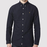 Farah Vintage Oxford Brewer Shirt Slim Fit - Navy - Front