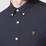 Farah Vintage Oxford Brewer Shirt Slim Fit - Navy - Detail