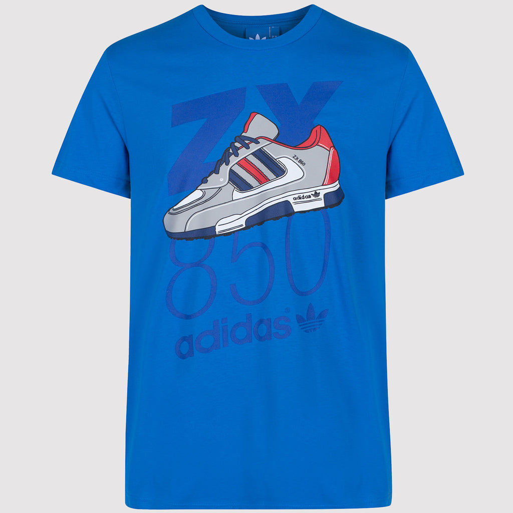 adidas Originals ZX 850 T Shirt - Blue - front1