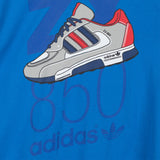 adidas Originals ZX 850 T Shirt - Blue - detail