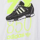 adidas Originals ZX 850 T Shirt - White - detail
