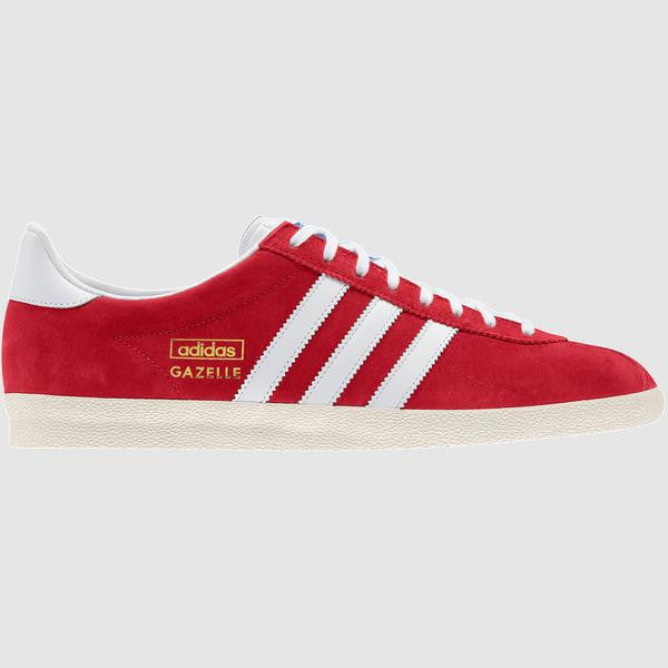 adidas Originals Men's Gazelle OG Trainer - Red - side