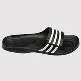 adidas Women's Duramo Sleek Slides - Black - front