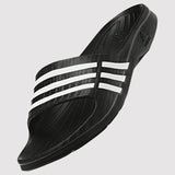 adidas Women's Duramo Sleek Slides - Black - front 2