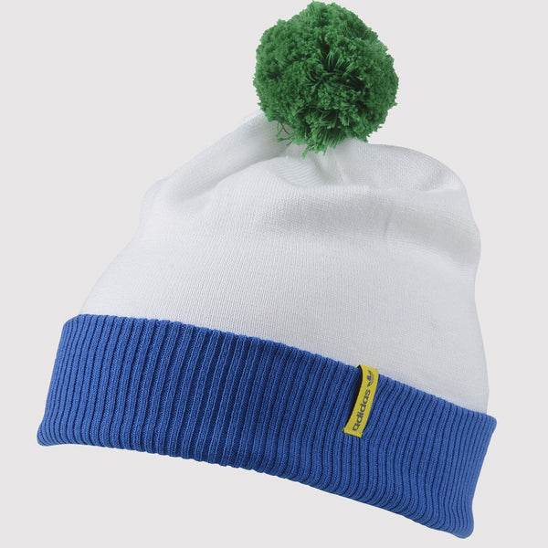 adidas Originals Pom Pom Football Hat - White - Front