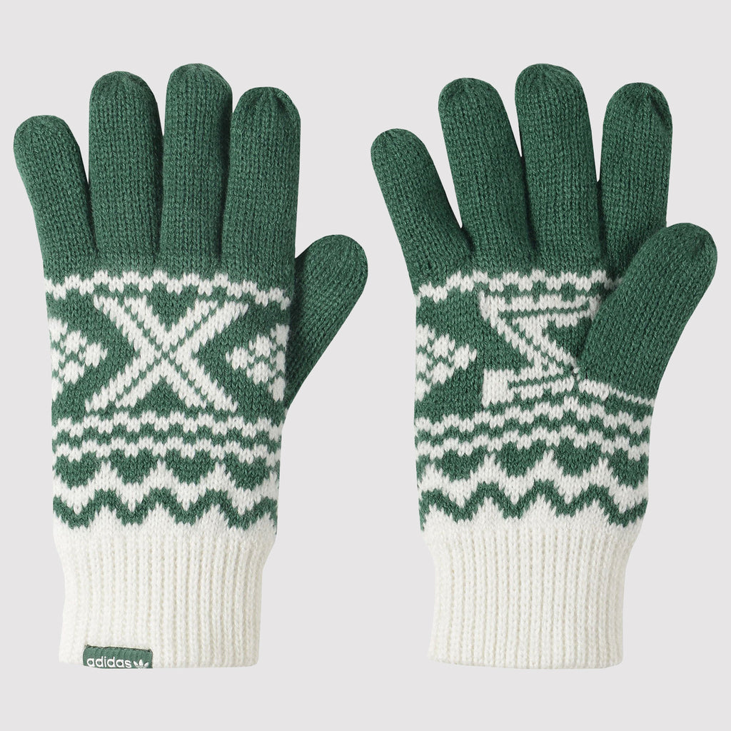 adidas Originals ZX Gloves - Green/White - Front
