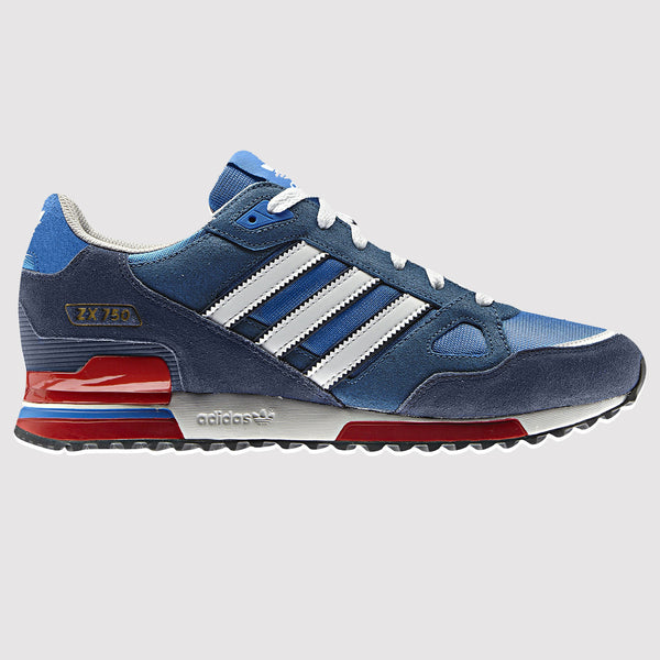 adidas Original Men's ZX750 Trainer - Blue - Side