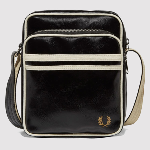 Fred Perry Classic Side Bag - Black front L1202 102