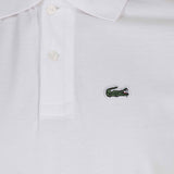 Lacoste Pique Polo Shirt - White - detail