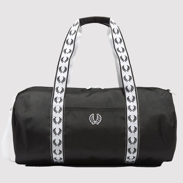 Fred Perry Track Barrel Bag - Black L2208 102