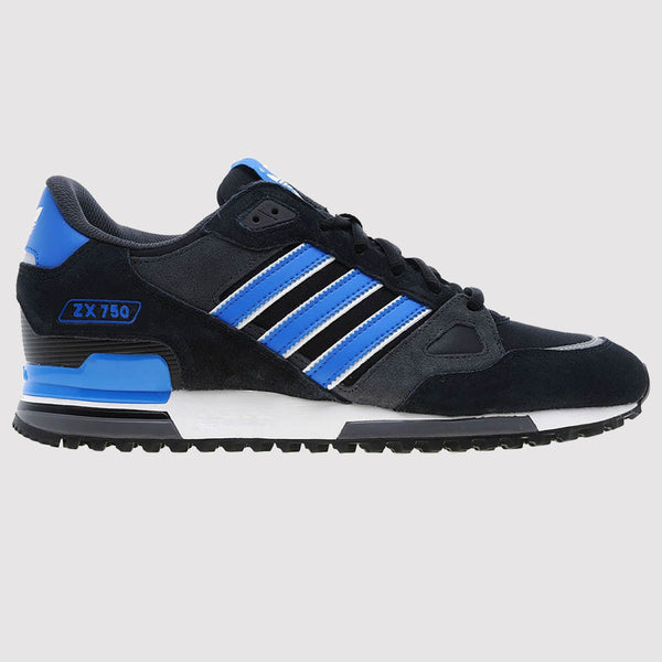 adidas Originals ZX 750 Trainers - Black Blue - side