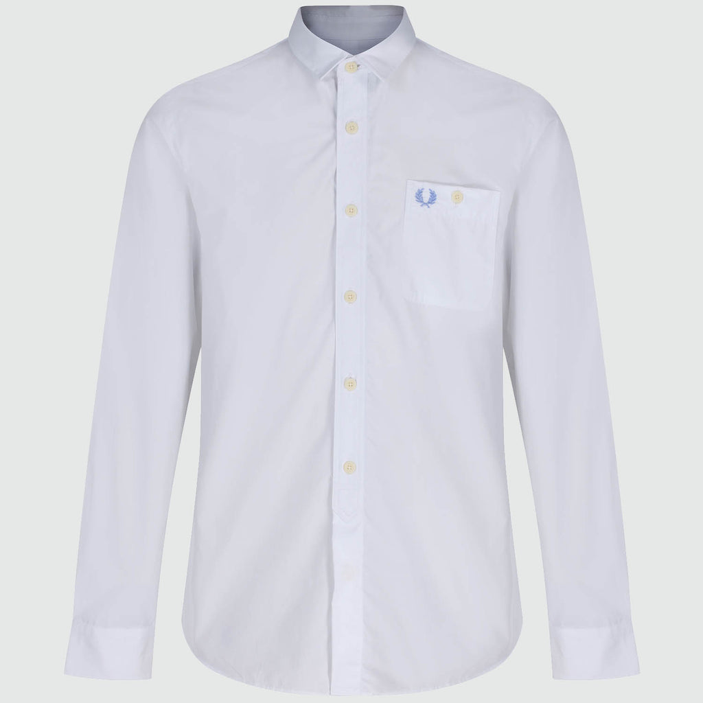 Fred Perry Concealed Tipped Long Sleeve Shirt - front
