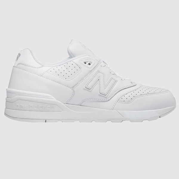 New Balance 597 Trainers - White - Side