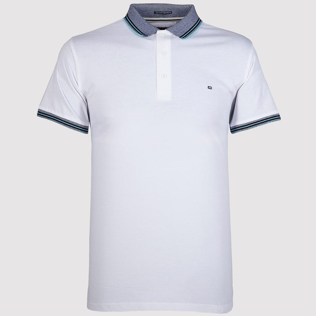 Weekend Offender Vesper Polo Shirt - White - Front