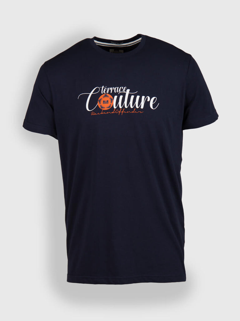 Weekend Offender Terrace Couture T Shirt - Navy