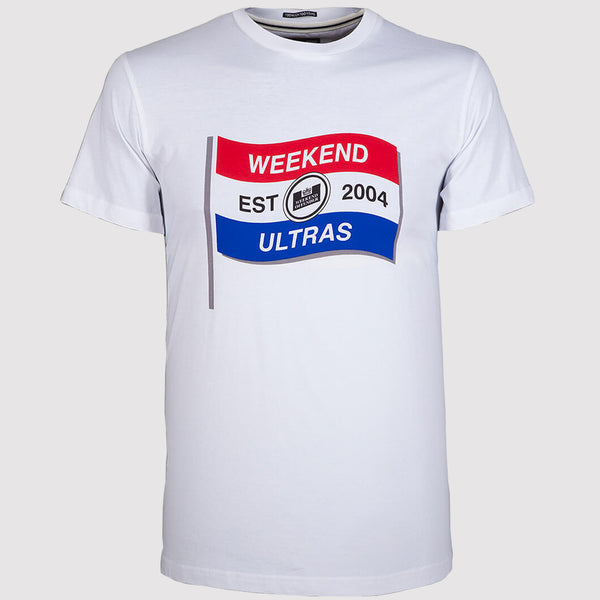 Weekend Offender Ultra Flag T Shirt - White - Front