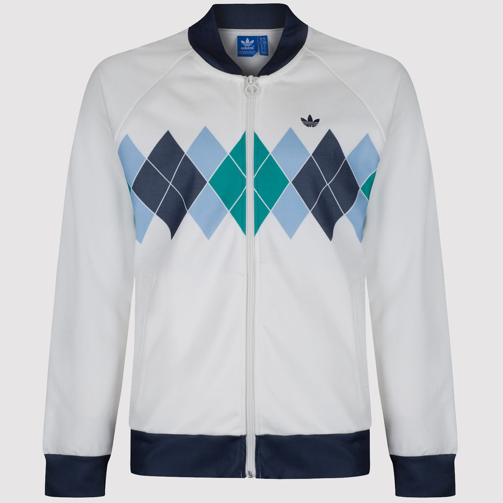 adidas Originals Argyle Ivan Lendl Track Top - White - Front