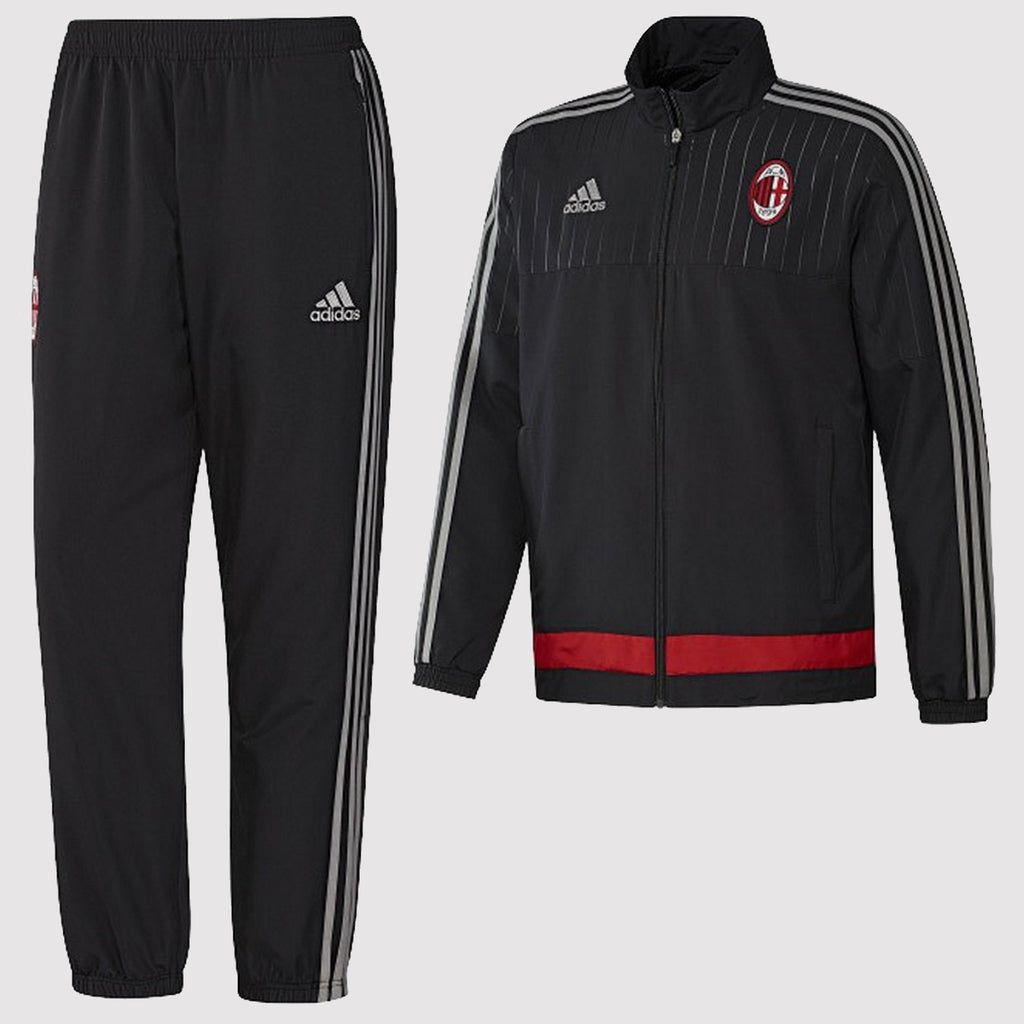 adidas AC Milan Presentation Track Suit - Black - Front