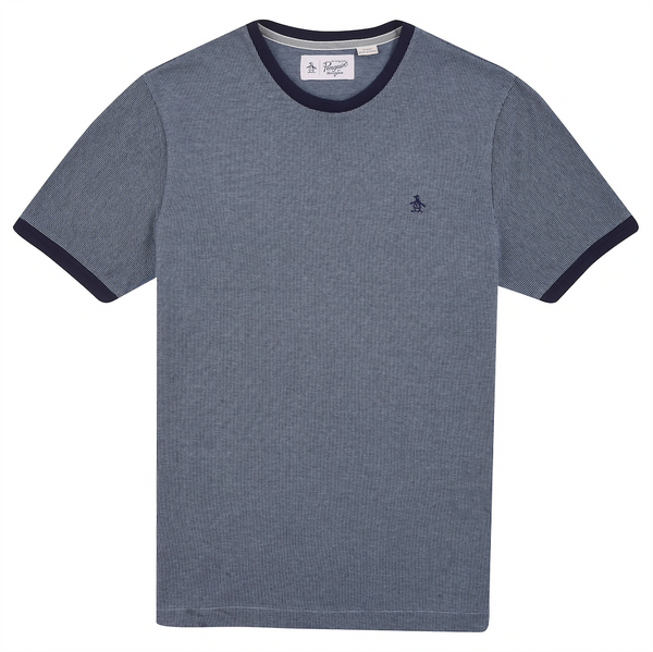 Original Penguin Textured Stripe T Shirt - Blue