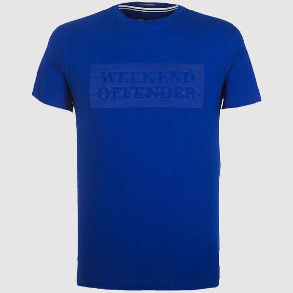 Weekend Offender Bishop T Shirt - Electric Blue - Front