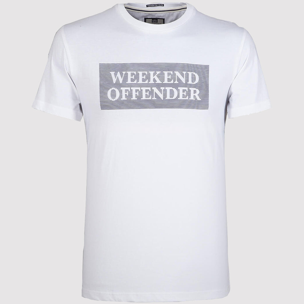 Weekend Offender Bishop T Shirt - White - Front