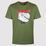 Vision Street Wear Men's Sneaker Tee Shirt - Green - front1