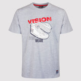 Vision Street Wear Men's Sneaker Tee Shirt - Light Grey - front1