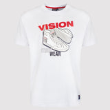 Vision Street Wear Men's Sneaker Tee Shirt - White - front1