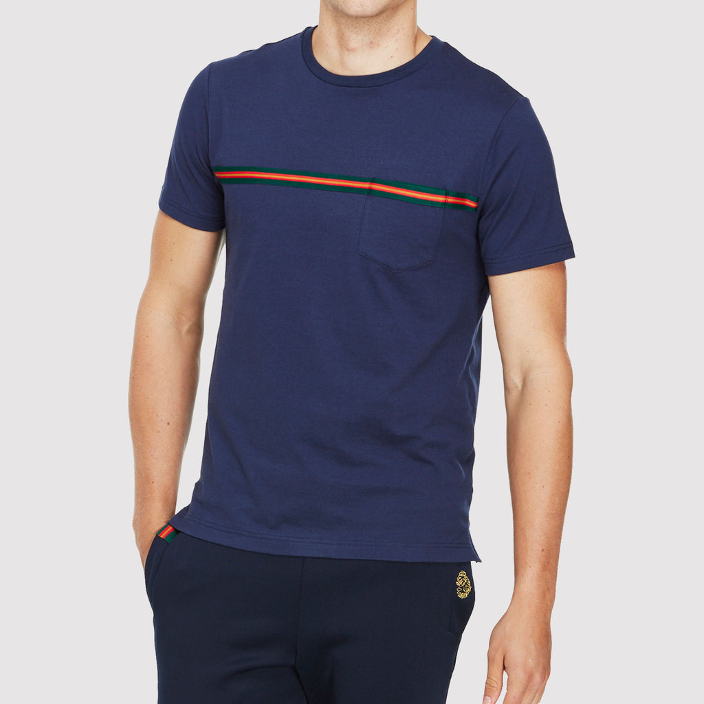 Luke 1977 Tapers Pocket T Shirt - Marina Navy - Front