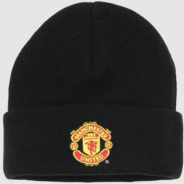 Official Manchester United Beanie Hat - black