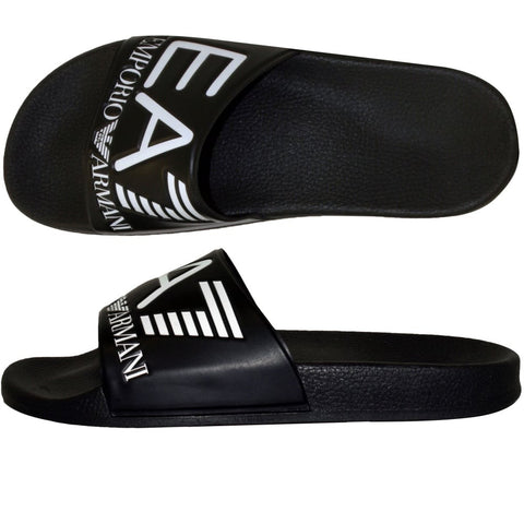 EA7 Armani Men's Beach Sliders - Black
