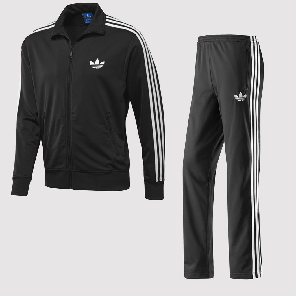 adidas Originals Men's Firebird Tracksuit - Black front
